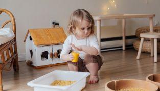 Stanza del bambino secondo il metodo Montessori