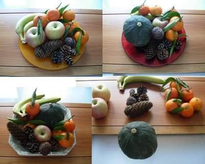 Centro tavola autunnale con frutta di stagione - Centro tavola con frutta ...
