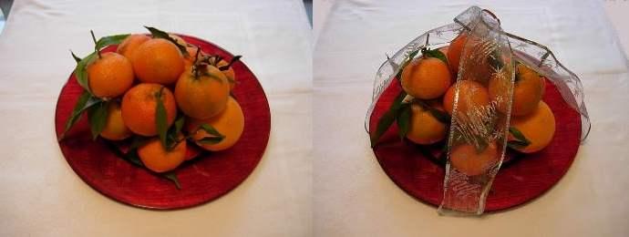 fine pranzo . Usate tre arance, una decina di mandarini o clementine ...