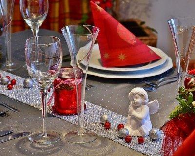 Segnaposto ecologici per la tavola di Natale