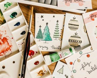 Biglietti di auguri di Natale fai da te in carta riciclata