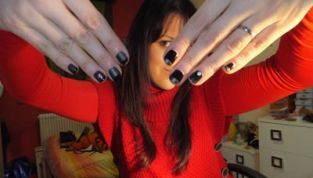 Tutorial nail art total black french
