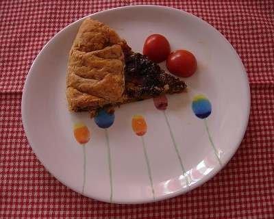 Torta salata con avanzi verdi