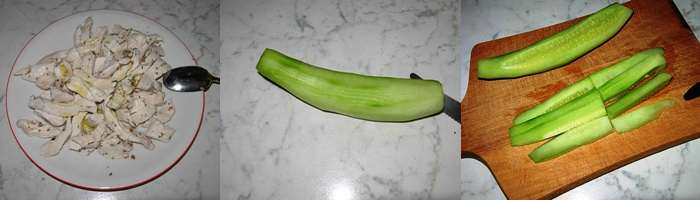 Pollo marinato verdure