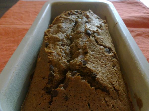 Plumcake al caffè con gocce di cioccolato fondente