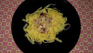 Tagliatelle al pesce e parmigiano