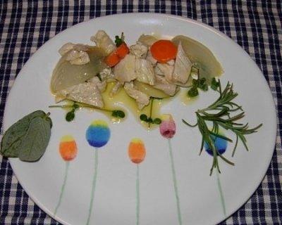 Pollo in barattolo con verdure e spezie