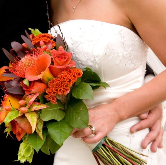 Super Bouquet da sposa d'autunno: alcune idee BF61