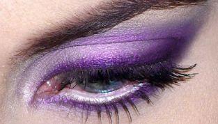 Tendenza make up Inverno 2012-2013: trucco viola