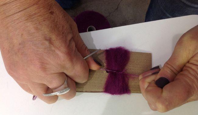 Palline di natale di lana