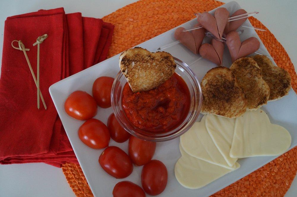Antipasto finger food San Valentino per innamorati