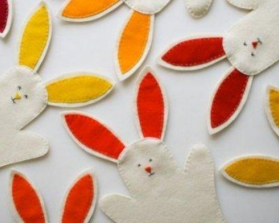 Per Pasqua, le marionette per bambini a coniglietto fai da te