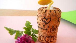 Tappo di sughero riciclato come vasetto per fiore