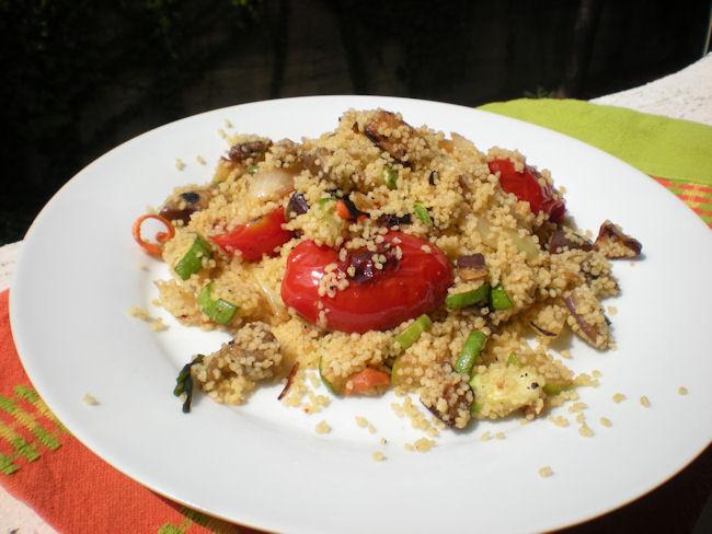 Taboulè con verdure grigliate