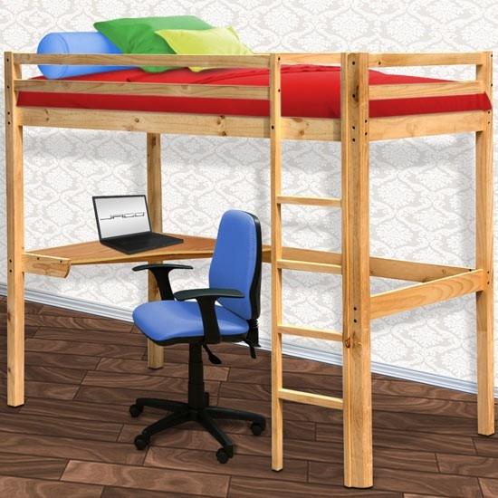Angolo studio nella cameretta dei ragazzi in poco spazio - Letto a soppalco con scrivania ...