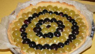Crostata crema e uva, autunno in dolcezza!