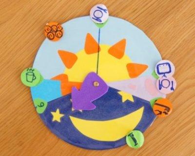 Creare un orologio per bimbi con le fasi della giornata for Orologio fai da te