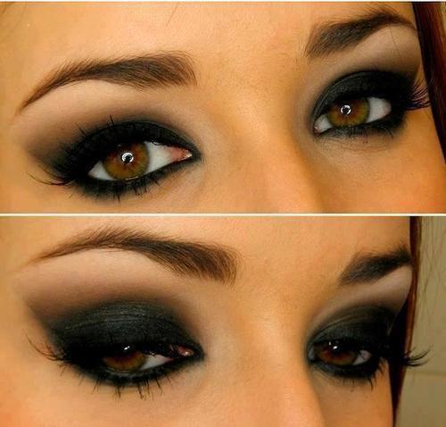 Trucco occhi marroni nocciola