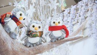 Decorazioni di Natale in stile shabby chic