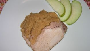 Arrosto di maiale con mele verdi