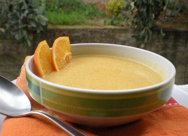 Crema di lenticchi e arancia