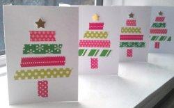 Biglietti di Natale con washi tape