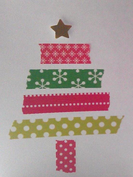 Bigliettini di Natale con washi tape