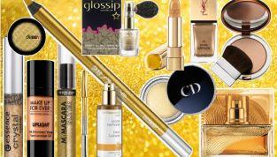 Make up oro per natale e capodanno
