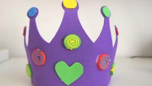 Vestiti di Carnevale per bambini: corona di gomma crepla fai da te