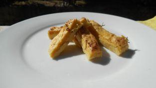Patatine con farina di ceci