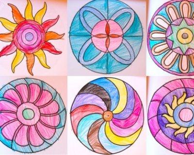 Mandala per bambini da stampare e colorare for Disegni facili da riprodurre