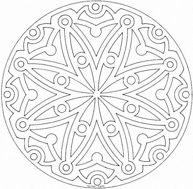Ben noto Mandala per bambini da stampare e colorare AF61
