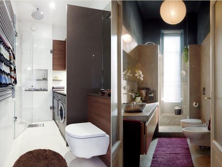 Come arredare il bagno piccolo e stretto consigli utili for Arredare bagno piccolo con lavatrice