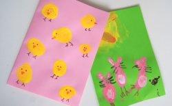 Idee originali per creare biglietti di Pasqua con i bambini