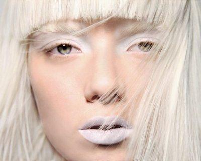 Trucco bianco glaciale ma trendy!