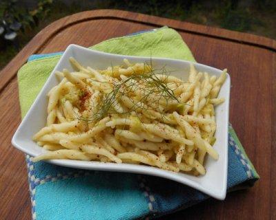 Pasta con bottarga e zucchine, un profumato incontro