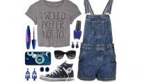 Look della settimana con salopette di jeans