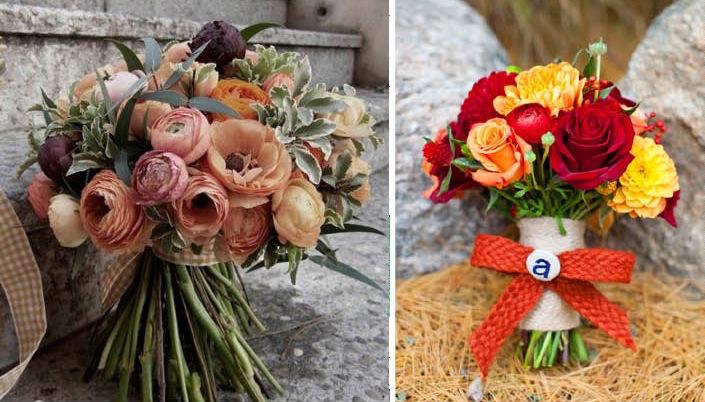 Top Fiori e frutta per il bouquet da sposa in autunno FD43