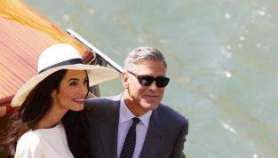 George Clooney e Amal Alamuddin rimandano la luna di miele causa tempesta tropicale