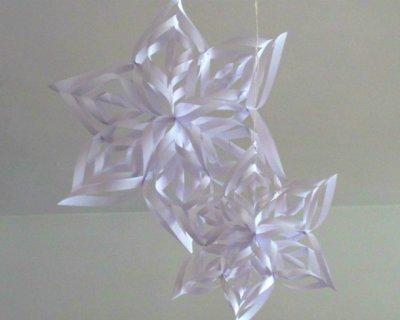Fiocco di neve di carta con effetto 3d