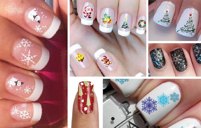 Risultati immagini per stickers natalizi per unghie