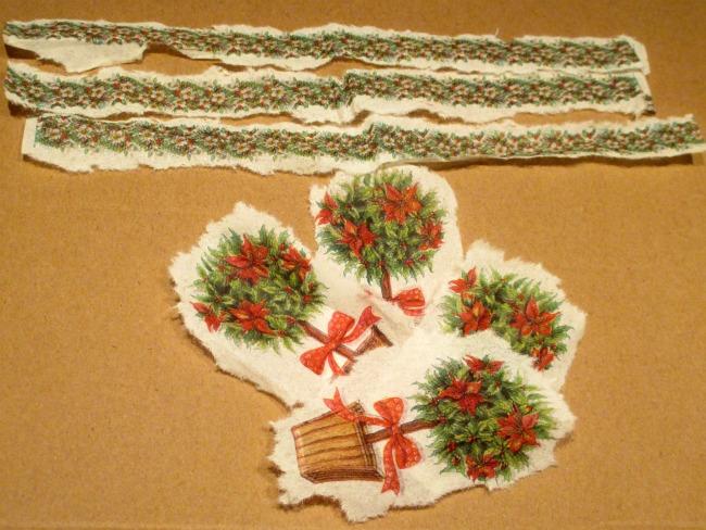 Candele natalizie decorate - Tovaglioli di carta decorati ...