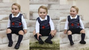 Baby George, le foto ufficiali diffuse da mamma Kate e papà William