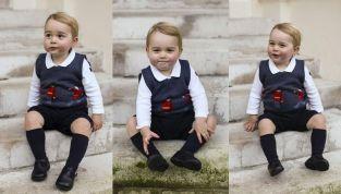 Baby George, le foto ufficiali diffuse da mamma Kate e papà William