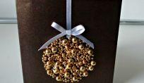 Tante perle per il biglietto di auguri natalizio 3d