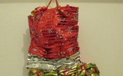 Calza della Befana fai da te con carta dei regali
