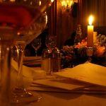 Cena in ristorante di lusso
