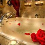 Bagno caldo con candele e incensi